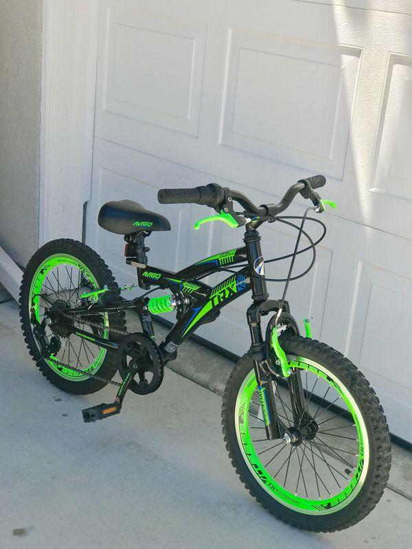 Avigo 18 Quot Boys Trx 18 Dual Suspension Bicycle Green