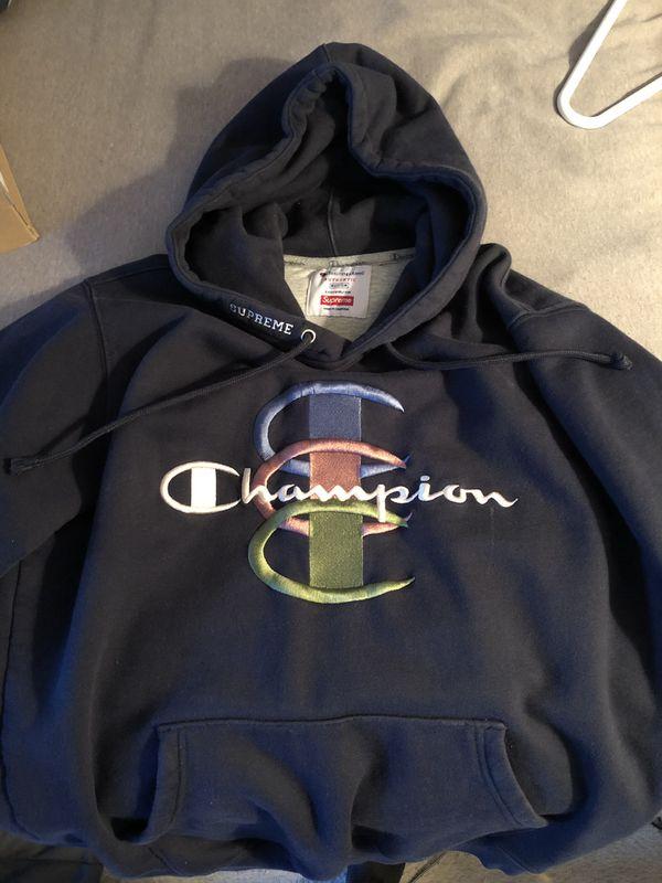 tinten van ziet er geweldig uit goedkoop worden Supreme X Champion stacked C Hoodie for Sale in Sicklerville ...