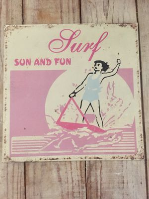 Surf Sun and Fun metal wall art room decor for Sale in Phoenix, AZ