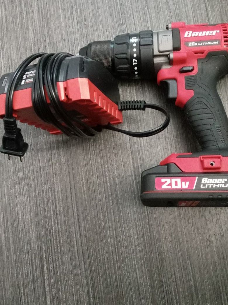 Bauer 20v Hammer Drill w Rapid Charger