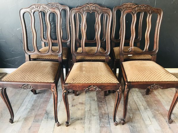 Brilliant 6 Antique French Dining Chairs For Sale In Cibolo Tx Offerup Alphanode Cool Chair Designs And Ideas Alphanodeonline