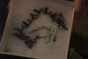 Chocolate Stone Crystal Base Metal Necklace for Sale in Fairfax, VA