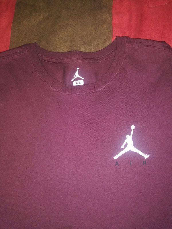 49c7b005efcd Burgundy an white jordan shirt for Sale in Tampa