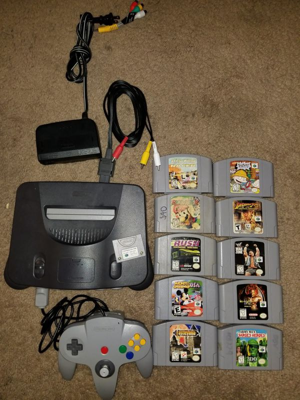 Nintendo 64 Bundle with 10 Games for Sale in Houston, TX - OfferUp