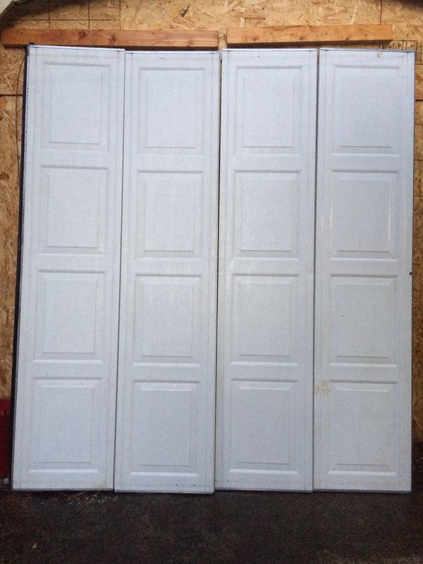 8ft Wide By 7ft High White Garage Door With Opener Included For