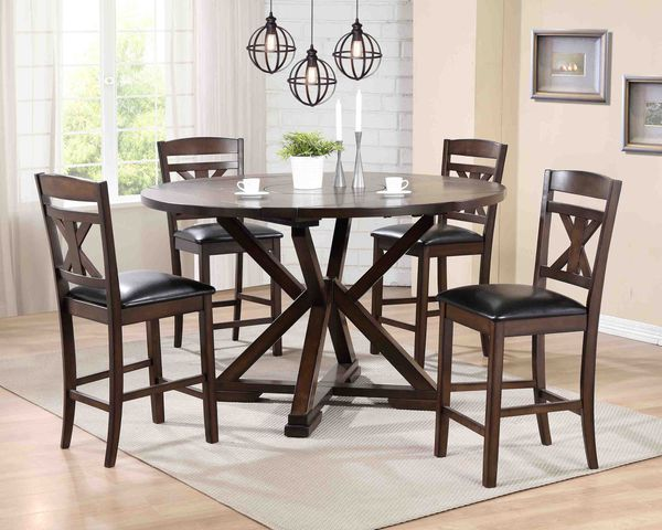 MINDY COUNTER HEIGHT DINING TABLE WITH 4 CHAIRS AND REMOVABLE LAZY SUSAN ONLY 569 NO CREDIT CHECK FINANCING AVAILABLE For Sale In Lakeland FL