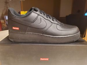 Photo Nike Air Force 1 x SUPREME BLACK Brand New SIZE 12