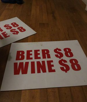 Beer and wine signs medium sized for Sale in San Antonio, TX