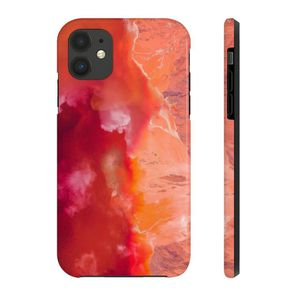 Photo IPHONE 11 RED COLORS CASES MATE TOUGH PHONE CASES