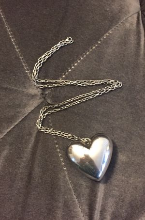 Silver Heart Pendant Necklace for Sale in San Diego, CA