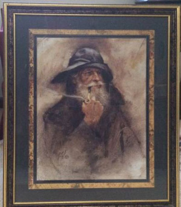 Sea Captain Painting Amp Gorgeous Frame R Tolan For Sale In