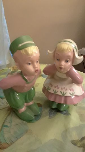 1940's Kissing Ceramic Boy and Girl for Sale in Frederick, MD
