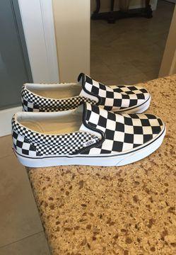 BRAND NEW VANS 🔥Classic Slip-On Checkerboard Shoes Mens Size 9.0 / Women's Size 10.5 Black/White (Porter Ranch Ca) Thumbnail