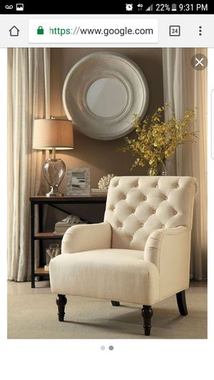 New in box Cotswold beige accent chair for Sale in Manassas, VA