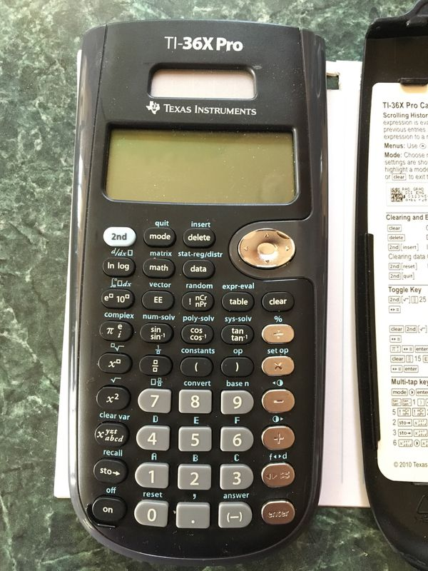 Texas Instruments TI -36X Pro Scientific calculator for Sale in Happy  Valley, OR - OfferUp
