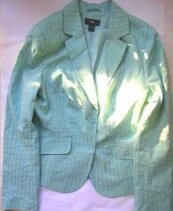 Brand New Women's Light Blue Spring Blazer Jacket by H&M, Size 10 Thumbnail