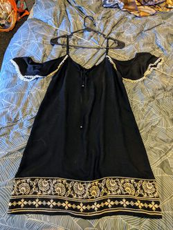 Black Embroidered Dress Thumbnail