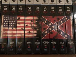 Ken Burns PBS Civil War Set VHS for Sale in Lorton, VA