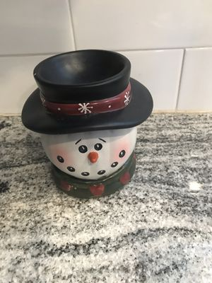 Snowman candle holder for Sale in Ashburn, VA