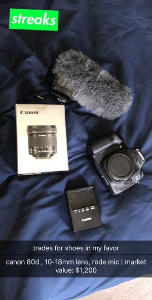 Canon 80d lot (Trades) for Sale in Ashburn, VA