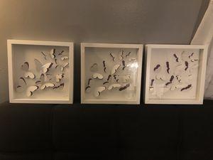 3 Ikea butterflies frames for Sale in Manassas, VA