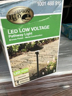1- item only last one only $25  Hampton Bay Low-Voltage 10-Watt Equivalent Bronze Outdoor Integrated LED Landscape Path Light Thumbnail