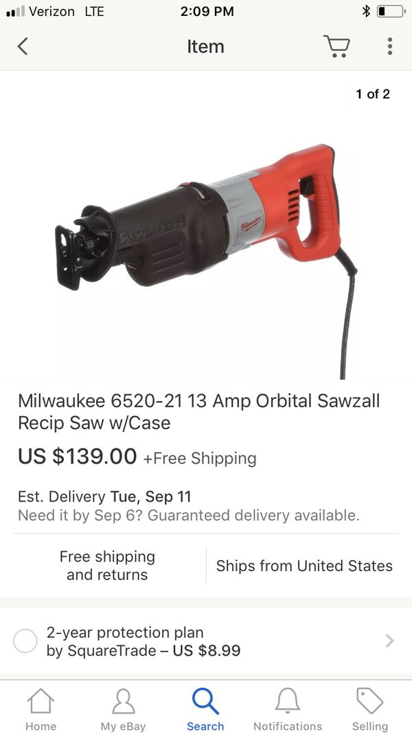Milwaukee 6520 21 >> Milwaukee 6520 21 13 Amp Orbital Sawzall Recip Saw For Sale In Los