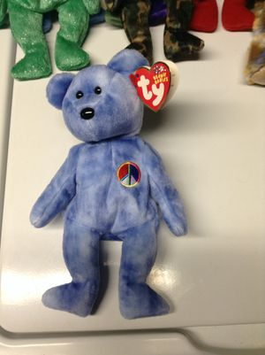 Peace beanie baby bear for Sale in Alexandria, VA