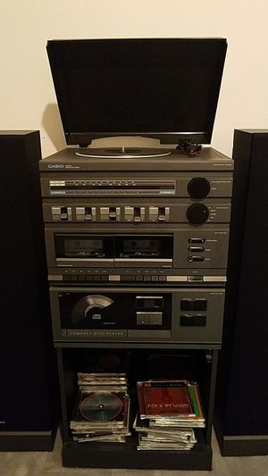 EXPIRES THURSDAY!: Retro Casio 5-in-One Turntable/Record Player, Cassette, Radio, CD Stereo System for Sale in Herndon, VA