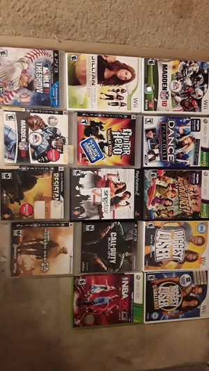 Games For Sale ( Wii, Xbox360 & Kinect, Ps3, Ps2 ) for Sale in Hyattsville, MD