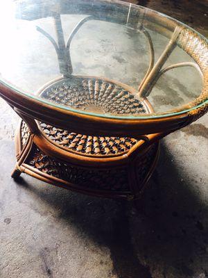 Pier one wicker table for Sale in Boston, MA