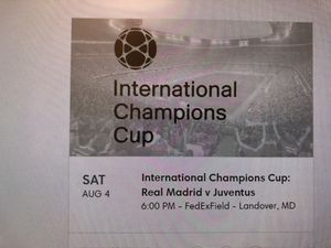 International champions Cup: Real Madrid v Juventus for Sale in Ashburn, VA