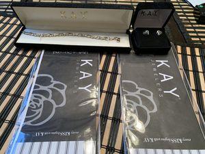 Kay jewelry earrings and bracelet for women's receipt warranty added for Sale in Casselberry, FL