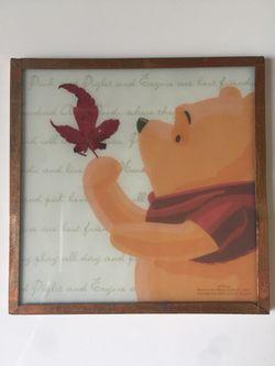 Fall / Autumn Decor - Framed Glass Winnie the Pooh Coasters/ Tile Set Thumbnail