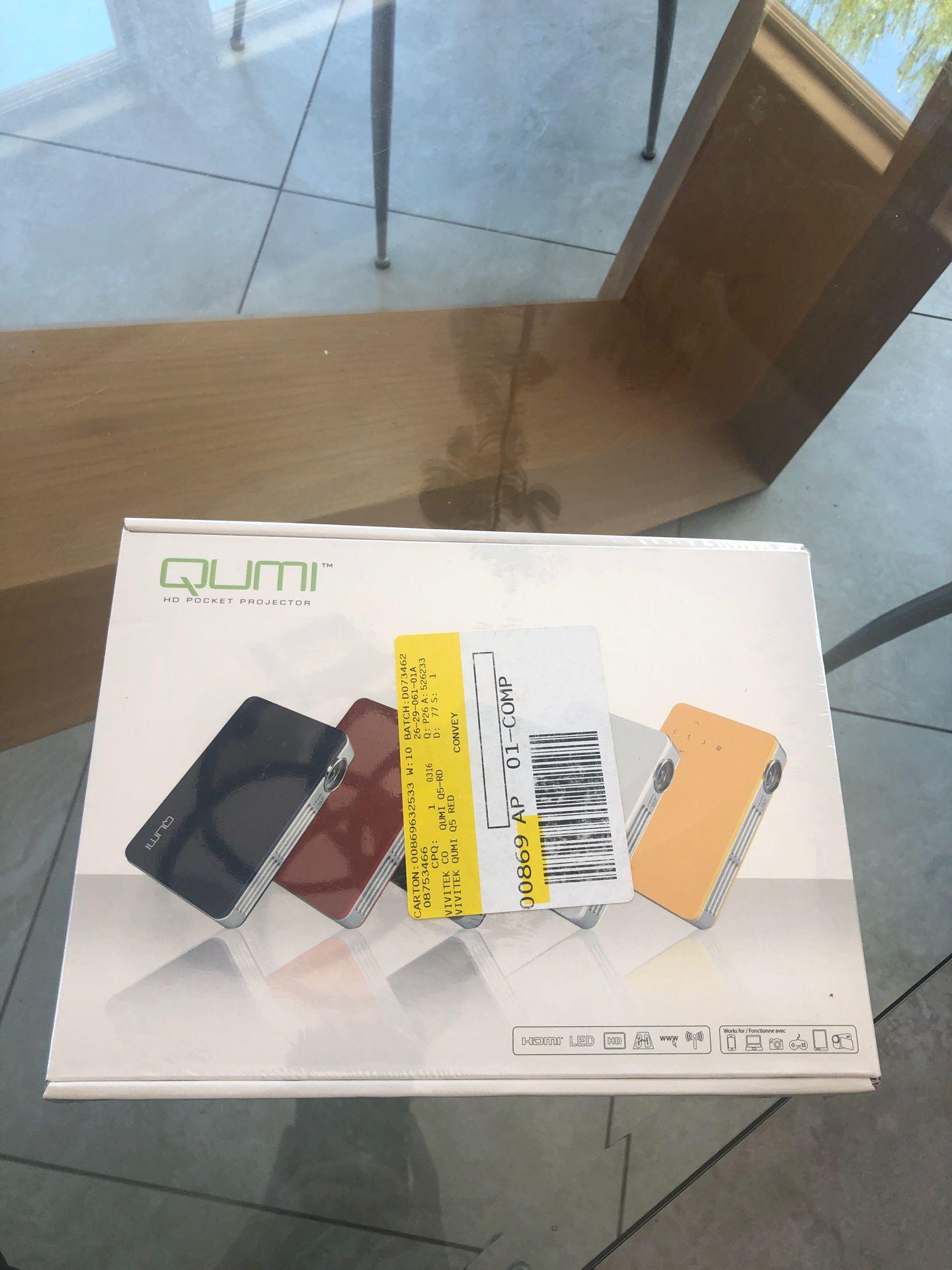 Qumi HD Pocket Projector- Red