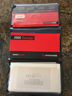 2005 dodge durango owners manual