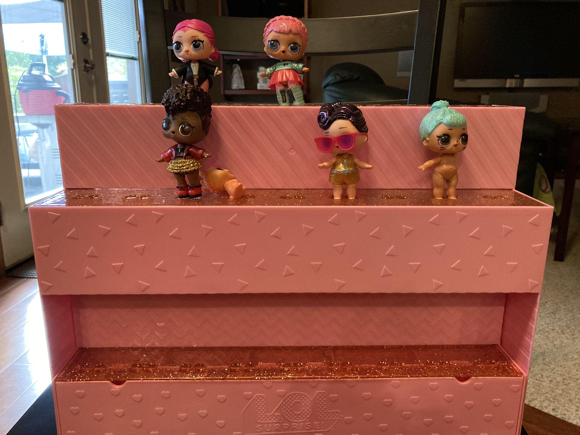 Lol Doll Storage With Dolls