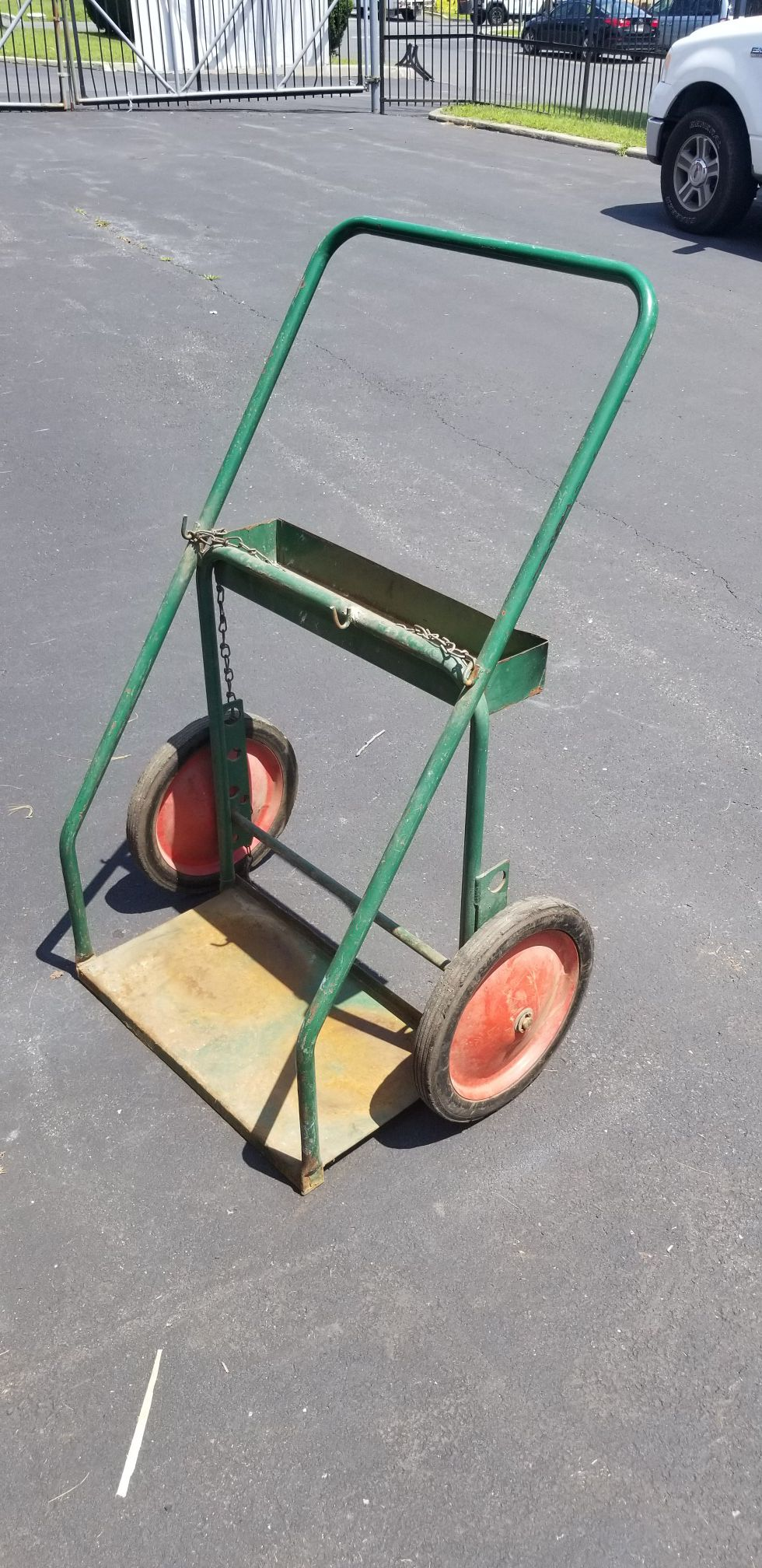 Gas Cylinder Bottles Cart Truck, Twin, Large