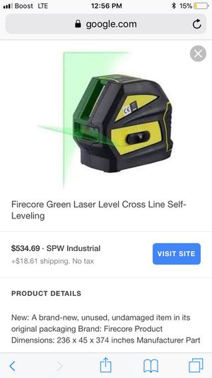 Firecore Green laser level for Sale in Silver Spring, MD