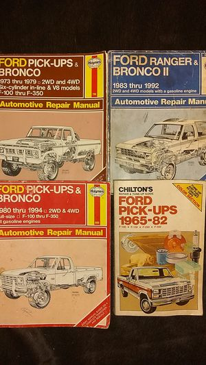 Ford pick-ups & Bronco & II Manuals for Sale in Brooksville, FL