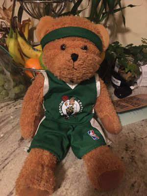 Photo NBA official Build a Bear Boston Celtics teddy In mint condition Like new