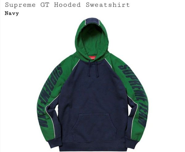 5a32ba6827fd New Supreme GT Hoodie Navy Large for Sale in Irvine