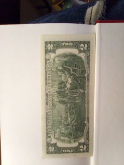 2013 series $2 Bill serial number note Thumbnail