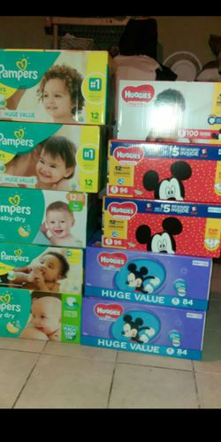 All sizes in huggies,pampers,luvs and a variety of enfamils (all colors) and also I have similac Thumbnail
