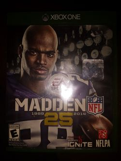 New madden 25th Anniversary Xbox one game Thumbnail