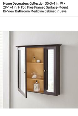 New Home Decorators Fog Free Framed Medician Cabinet, Retail $100!!!-$50( Thumbnail