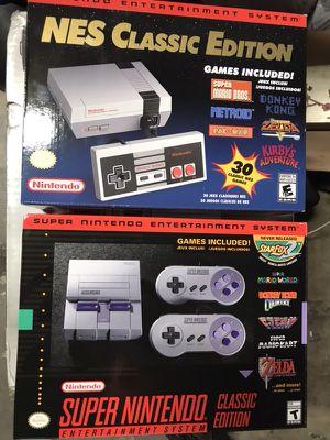 Brand new Nintendo NES or SNES Mini Consoles - 100% Authentic for Sale in Miami, FL