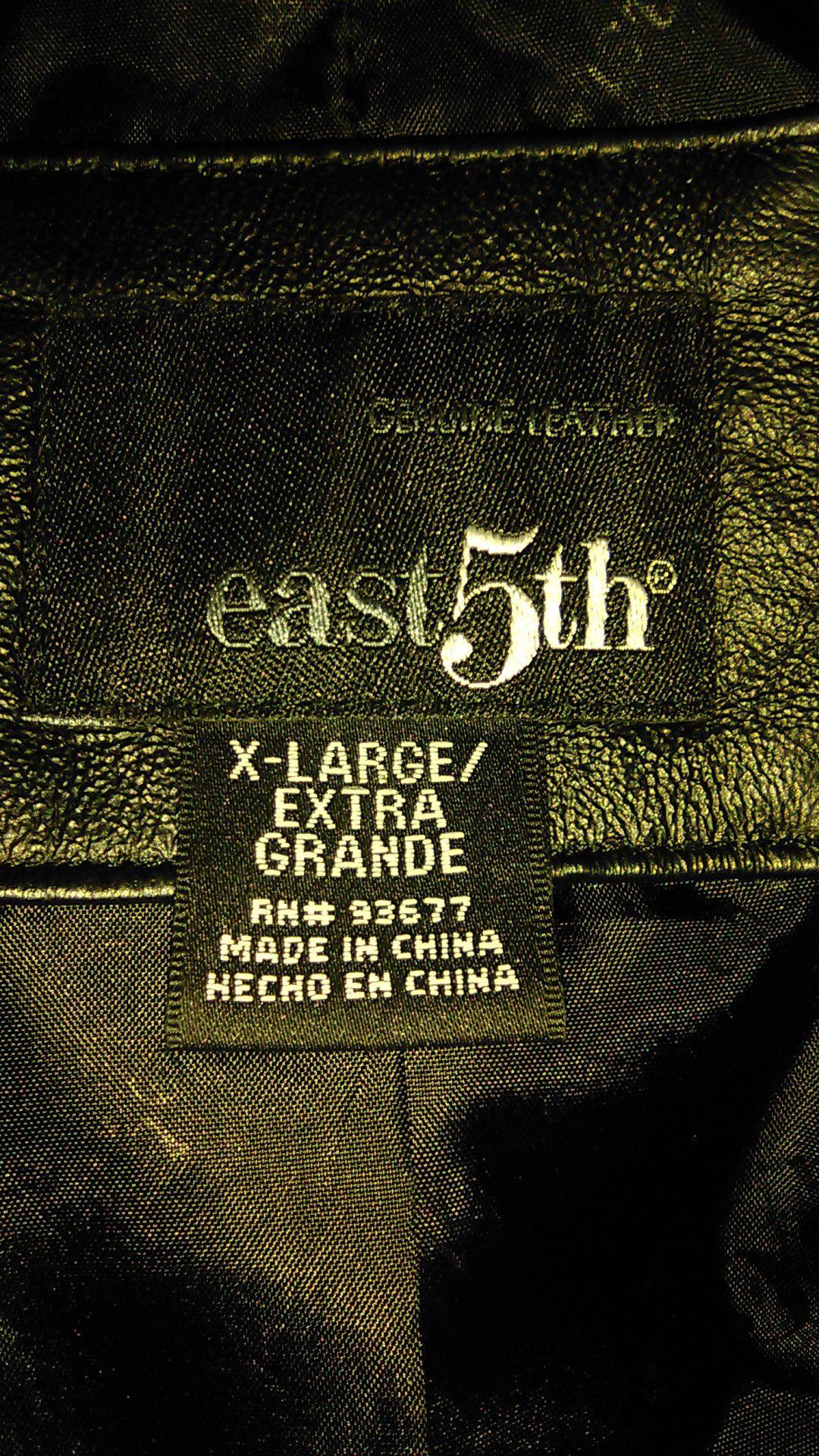 East 5th genuine leather jacket size extra large