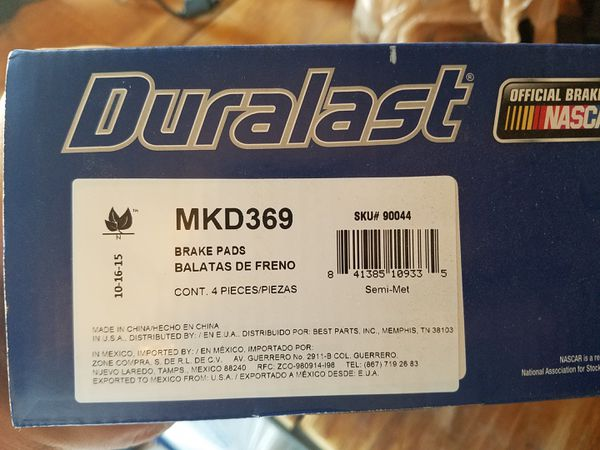 Duralast Brake Pads >> Duralast Brake Pads Mkd 369 For Sale In Oklahoma City Ok Offerup