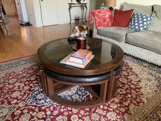 Coffee Table with 4 Hidden Seats Thumbnail